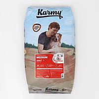 Сухой корм Karmy medium adult для собак средних пород, телятина, 15 кг