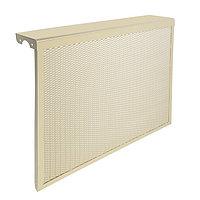 Экран на чугунный радиатор 'Лидер', 690х610х150 мм, 7 секций, металлический, бежевый
