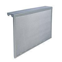 Экран на чугунный радиатор 'Лидер', 690х610х150 мм, 7 секций, металлический, цвет металлик
