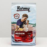 Сухой корм Karmy medium adult для собак средних пород, индейка, 2 кг