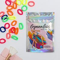 Резинки в пакете голография Gymnastics, текстиль, 20 шт., 7 х 10 см
