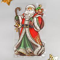 Объёмная наклейка Room Decor 'Дед Мороз в красной шубе' 24х41 см