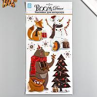Декоративная наклейка Room Decor 'Новогодний стиль 1' 24х41см