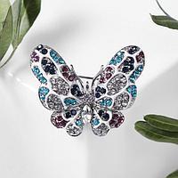 Брошь 'Бабочка' нимфалида, цветная серебре