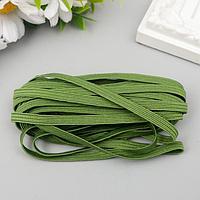 Резинка декоративная для скрапбукинга 'Fabrika Decoru' плоская 5 мм, 5 м, зелёная трава
