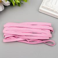 Резинка декоративная для скрапбукинга 'Fabrika Decoru' плоская 5 мм, 5 м, розовая