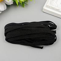 Резинка декоративная для скрапбукинга 'Fabrika Decoru' плоская 7 мм, 5 м, чёрный