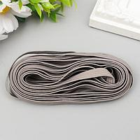 Резинка декоративная для скрапбукинга 'Fabrika Decoru' плоская 7 мм, 5 м, серый