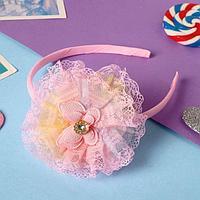 Ободок для волос 'Глорис' бабочка сияние, 9 см, розовый