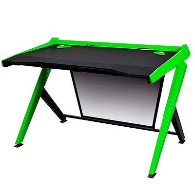 Стол для геймеров DXRacer GD/1000/NE, дерево, сталь, ABS пластик, 120х78.7х80 см, Black-Green