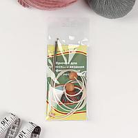 Крючок для вязания, тунисский, d 2,8 мм, 60 см