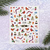 Наклейки для ногтей 'Новогоднее ассорти'