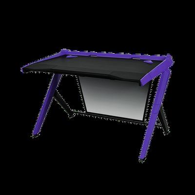 Стол для геймеров DXRacer GD/1000/NV, дерево, сталь, ABS пластик, 120х78.7х80 см, Black-Violet