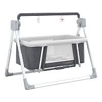 Кроватка-колыбель мобильная с электрическим маятниковым качением, складная.