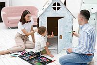 ХОММИК Картонный домик раскраска, фото 1