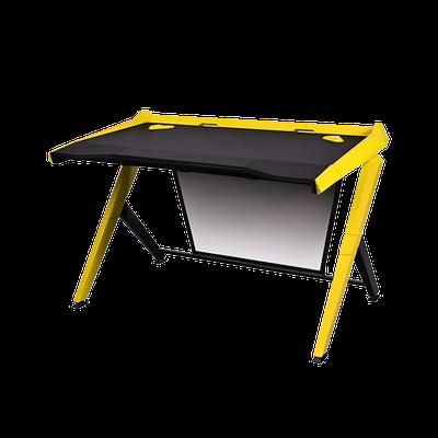 Стол для геймеров DXRacer GD/1000/NY, дерево, сталь, ABS пластик, 120х78.7х80 см, Black-Yellow
