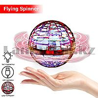 Летающий спиннер шар бумеранг с led подсветкой и usb зарядкой Flying Spinner красный
