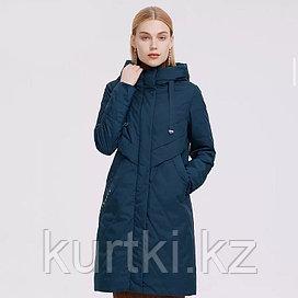 Осенняя удлиненная куртка MaxMara женская темно-синего цвета