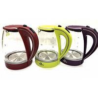 Чайник электрический Kingberg 1,7л; 3 цвета микс, крышка-автоматическая KB-2029