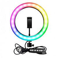 Селфи-лампа Led кольцо MJ26 26 см RGB