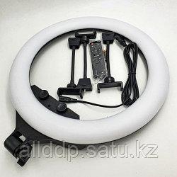 Кольцевая LED лампа ZB-F348 1 (3 крепл.тел.) (пульт) 220V (45см)