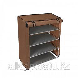 Полка-шкаф для обуви тканевая A-5 90/56/27 (кофе и бардо)