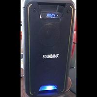 Колонка переносная с аккумулятором SoundMax SM 500 + 2 радиомикрофона.2000W