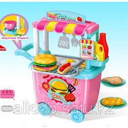 Игровой набор Детская Закусочная с тележкой 678-201A