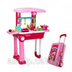 Набор Кухня закусочная с тележкой на колесах Happy Chef 678-206A