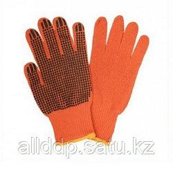 Перчатки рабочие оранжевые х/б (AB-004)