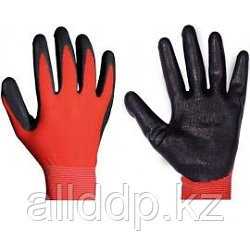 Перчатки рабочие чёрно-крансые (AB-003)