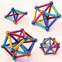 Игрушка головоломка Магнитный конструктор типа Неокуб в боксе 36 магнитных палочки и 28 шариков Neo