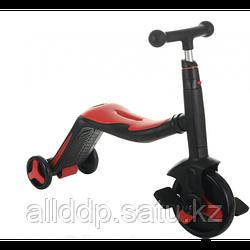Самокат-велобег Scooter 3в1, с педалями, КРАСНЫЙ, БЕЗ УПАКОВКИ