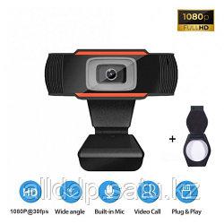 Веб-камера Full HD 1080p (1920x1080) с встроенным микрофоном вебкамера для ПК компьютера скайпа UTM Webcam