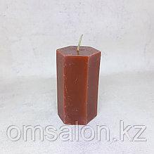 Свеча восковая, граненая (красная)