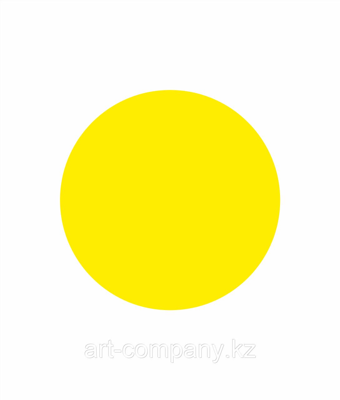 Желтый круг Предупредительный знак для слабовидящих людей