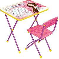 Набор мебели Ника Маленькая принцесса стол +мягкий стул от 3 до 7 лет
