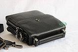 Мужская барсетка, сумка через плечо НТ со съёмным плечевым ремнем и ручкой, фото 4