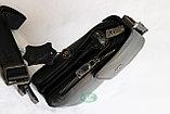 Мужская барсетка, сумка через плечо НТ со съёмным плечевым ремнем и ручкой, фото 6