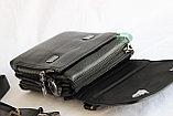 Мужская барсетка, сумка через плечо НТ со съёмным плечевым ремнем и ручкой, фото 5