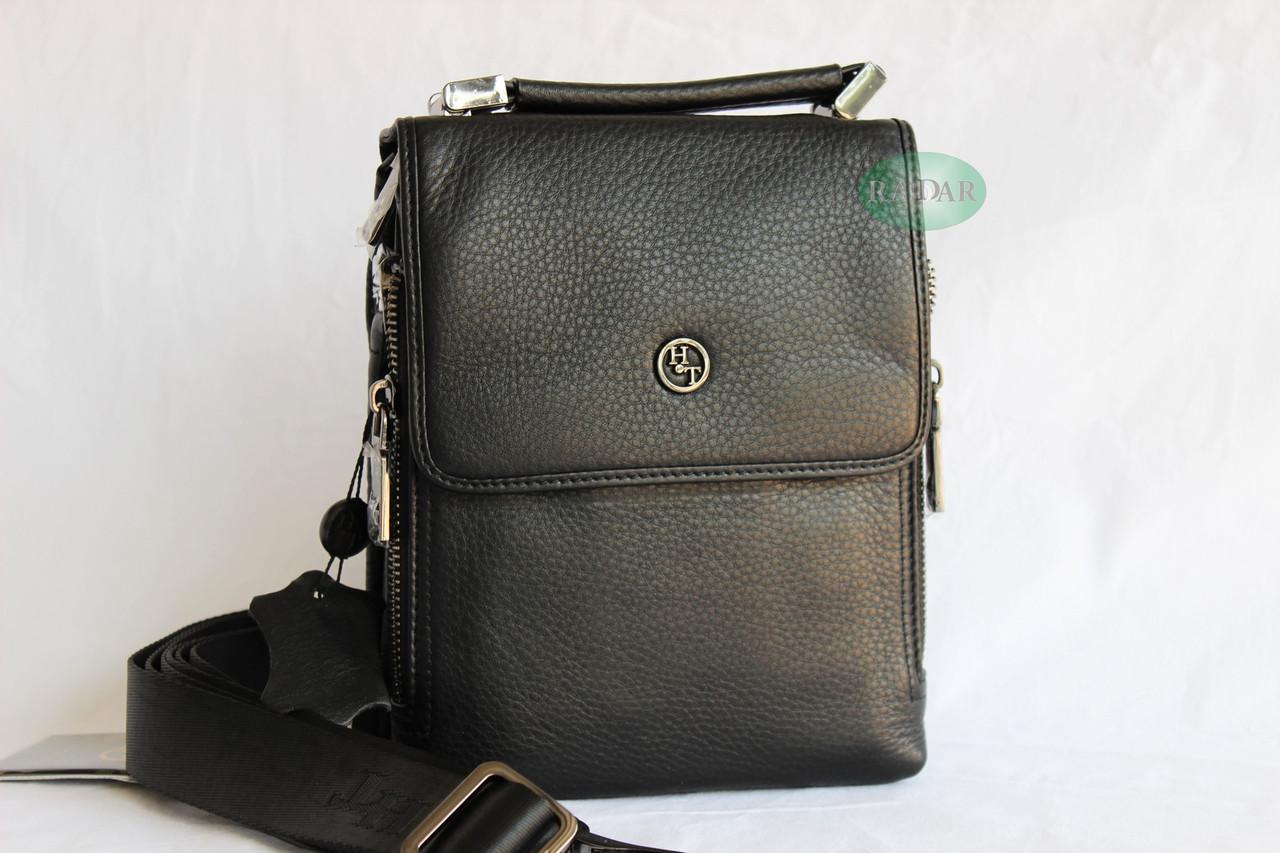 Мужская барсетка, сумка через плечо НТ со съёмным плечевым ремнем и ручкой