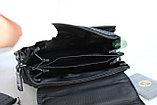 Мужская барсетка, сумка через плечо НТ со съёмным плечевым ремнем и ручкой, фото 8