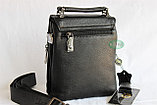 Мужская барсетка, сумка через плечо НТ со съёмным плечевым ремнем и ручкой, фото 3