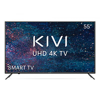 Телевизор LED 55'' UHD 4K, DVB-T2/C, SmartTV, Wi-Fi, серый