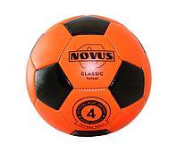 Мяч футбольный Novus CLASSIC FUTSAL, PVC foam оранж/чёрн,р.4,м/ш