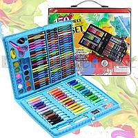 Набор для рисования Artistic Set 150 pieces фломастеры мелки карандаши краски голубой