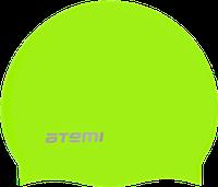 Шапочка для плавания Atemi,силикон (б/м), неоново-жёлтая, RC305