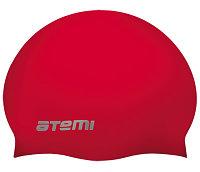 Шапочка для плавания Atemi,силикон (б/м), красная, RC304