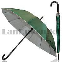 Зонт полуавтомат однотонный темно-зеленый