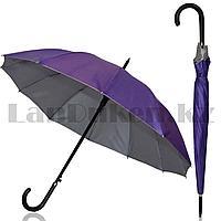 Зонт полуавтомат однотонный фиолетовый